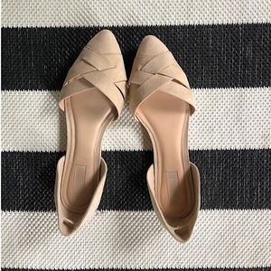 Forever 21 Nude D'orsay Flat Size 7